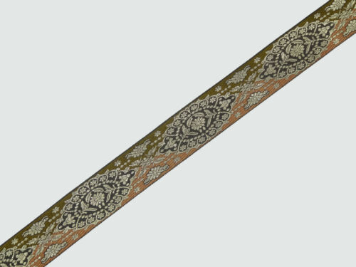 """wide By The Yard Jacquard Trim Woven Border Sew Ribbon T674 02/"""" 5.08 Cm"""