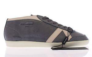 Scuro Eu44 5 Nuovo Sport Grigio Da Tennis us11 Scarpe Gabbana 5 Pelle Dolce FzwZgRqt