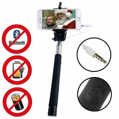 Selfie Stick Monopod Telescopic Wired Remote Mobile Phone Holder