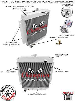 1954 1955 1956  Ford Country Sedan V8 Champion 3 Row Aluminum Radiator CC5456