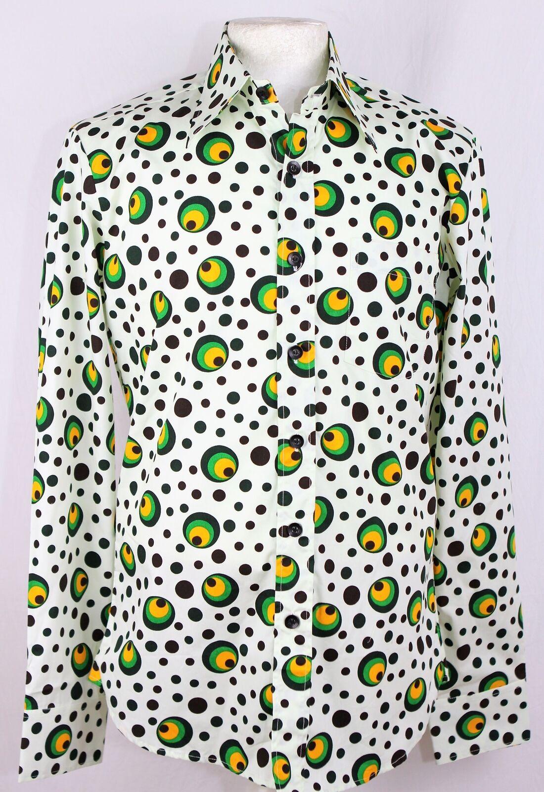 Chenaski Chenaski Chenaski Pois e splots Stile Firma Camicia Con Motivo Festa in stile retrò c09999