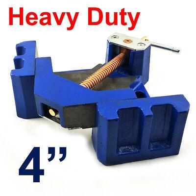 "Super Heavy Duty 4"" Corner Vice Metalworking Welding 90° Clamp Casting Iron 11kg"