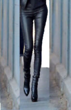 100%  leather Legging  HOSE TROUSERS s m l LEDER W 34 36 38 40 de UK trousers