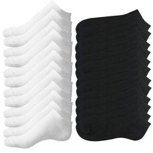 6-paires-blanc-6-paires-noir-de-Chaussettes-de-Sport-en-Coton-Riche-noir-A9E2
