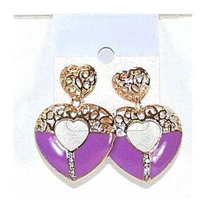 couleur or bijoux fantaisie neuf Boucles d/'oreille pendante oreilles percées