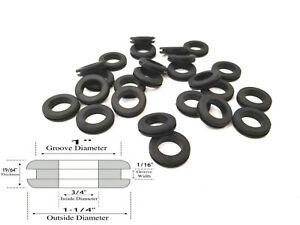 "Fits 3//4/"" Panel Holes Lot of 25 Rubber Grommets 1//2/"" Inch Inside Diameter"