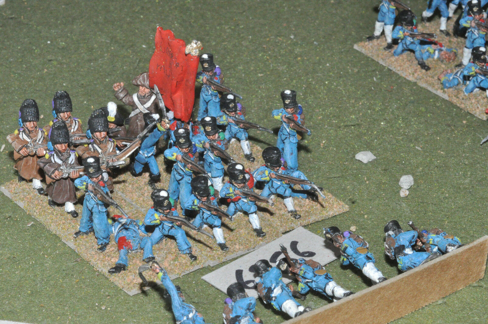 25mm ACW   mexican - american war infantry 28 figs metal painted - inf (6956)