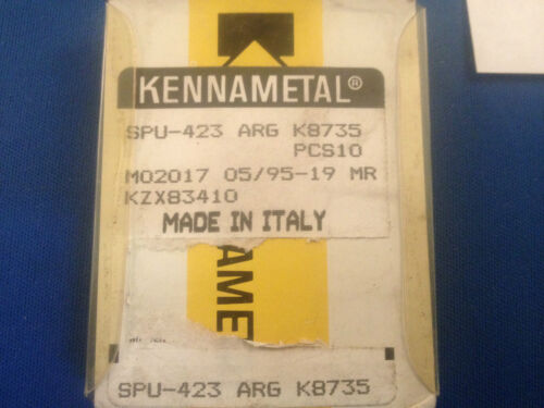 NIB Kennametal Carbide Inserts SPU 423 ARG Grade K8735 10-Pack