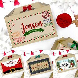 Vigilia-di-Natale-di-Personalizzato-Regalo-di-Natale-con-Nastro-Fiocco