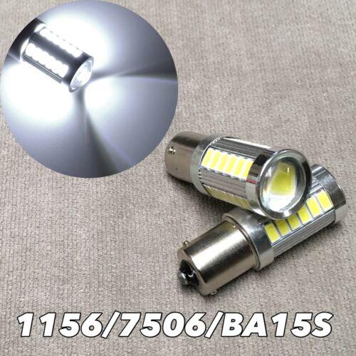 Backup Reverse 1156 BA15S 7506 1141 P21W SMD LED Bulb 6000K White W1 for Audi VW