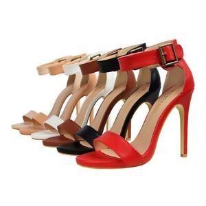 Women-s-Ladies-Open-Toe-High-Heels-Ankle-Strap-Back-Zip-up-Sandals-Pumps-Shoes
