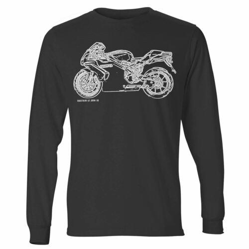JL Illustration For A Ducati 749S Motorbike Fan LS-Tshirt