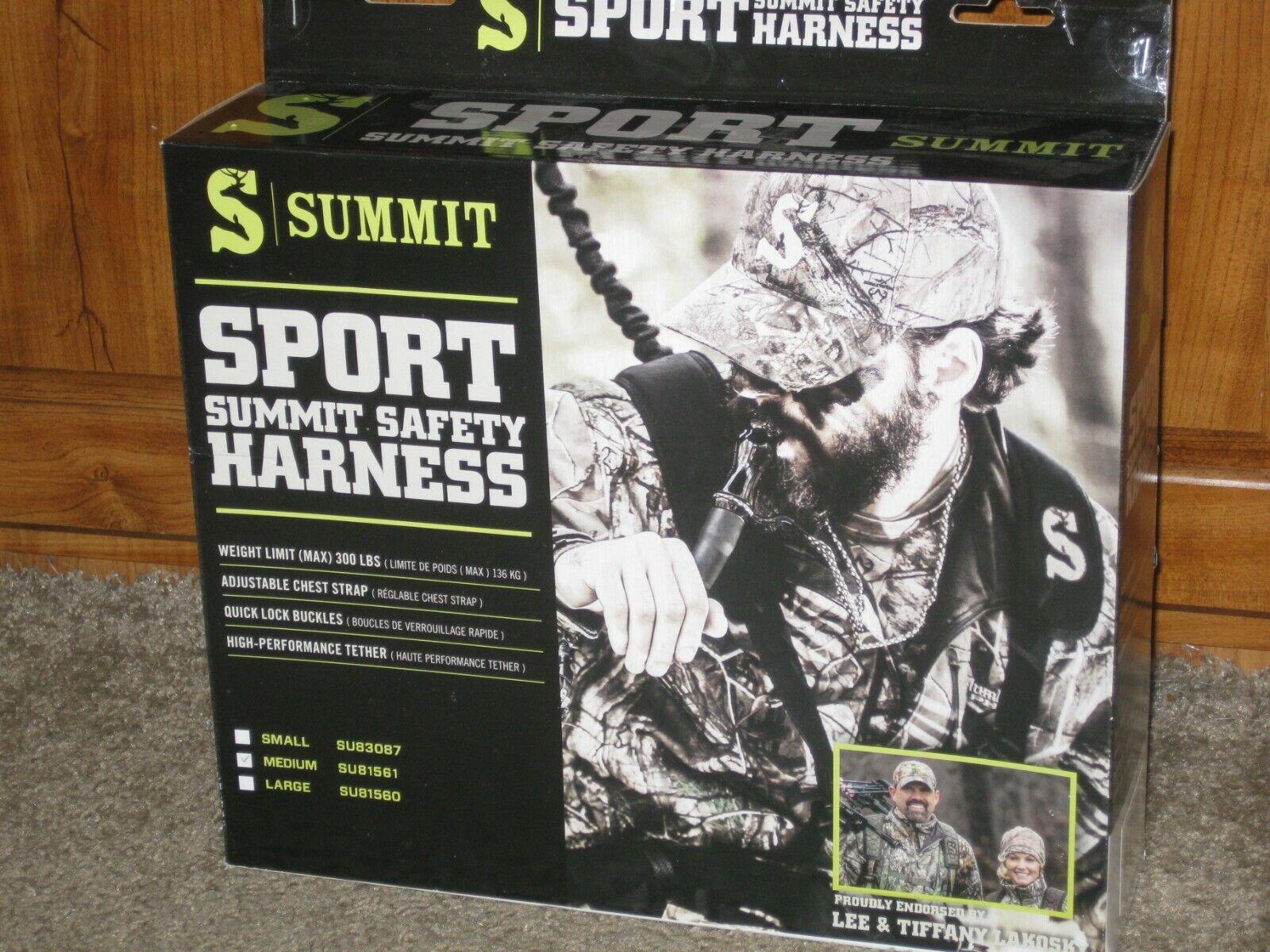 NEW Summit Sport Treestand Safety Harness Talla Medium SU81561