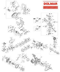 Kettenspannschraube mit Bolzen Original Ersatzteil Dolmar Säge PS 52