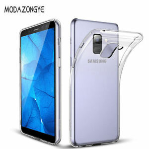 promo code 7368d 3e0d9 Details about Transparent Crystal Clear Case For Samsung Galaxy A6 A6+  (2018)TPU Soft Cover