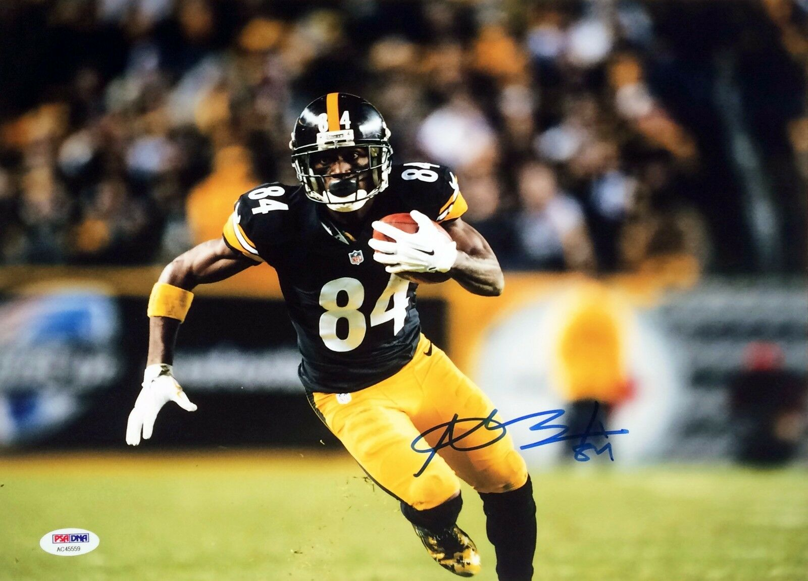 Antonio Brown Pittsburgh Steelers Signed 11x14 photo PSA/DNA Cert # AC 45559