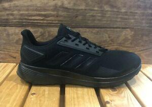 adidas-Duramo-9-Running-Shoes-Trainers-Triple-Black-Men-039-s-Size-11-5-B96578