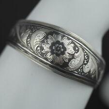 Vintage Nielo enamel solid silver bangle Russian bracelet 875 USSR rare gift