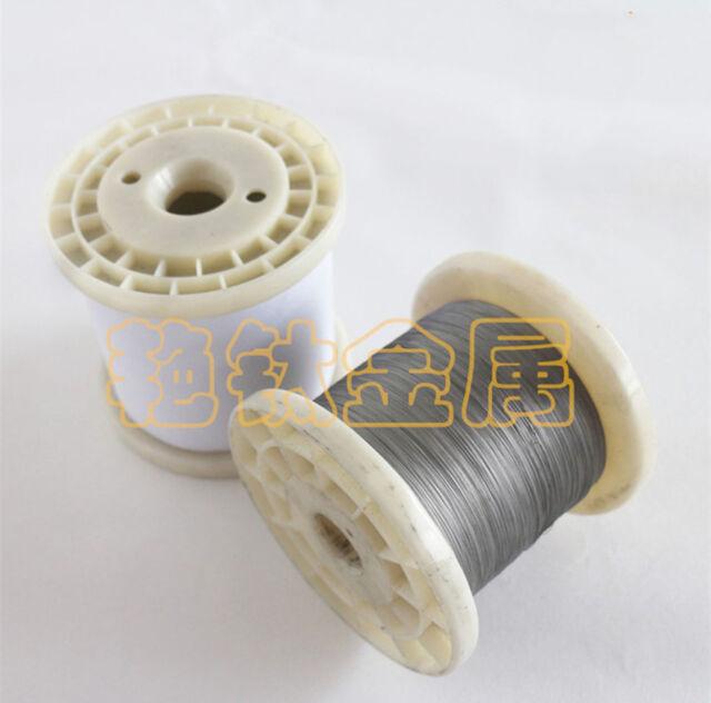 2m = 6.6 FT Titanium Ti Metal Wire Grade 1 One GR1 Diameter 0.4mm #E0Z-04