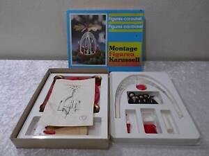 DDR-Montaggio-Figure-Carosello-Plastica-Plastica-Vintage-Del-1970
