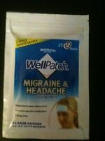 Wellpatch Migraine Headache Cooling Patches, 1 Pack, Total 4 Patches