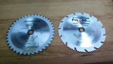 "TCT Saw blades 2519 NEW 7 1//4/"" Neilsen set of three 185mm"