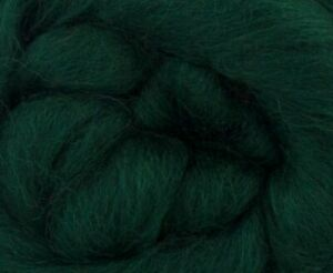 1 LB Begonia Corriedale dyed 25-30 mic Top Roving Wool Felting Spinning Felting
