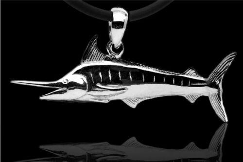 Baruna silver marlin colgante taucherschmuck de plata 925er