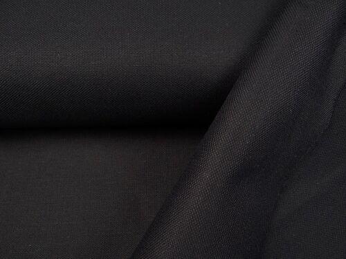 0,50 m Dekostoffe heavy Canvas stabil  schwarz Baumwolle  Stoff