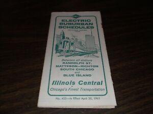 APRIL-1961-ILLINOIS-CENTRAL-ELECTRIC-SUBURBAN-PUBLIC-TIMETABLE-405