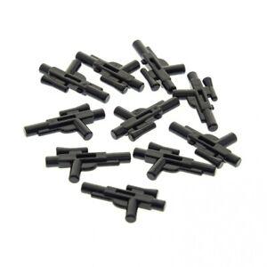 10-x-Lego-System-Waffe-Pistole-schwarz-kurz-Blaster-mit-Ziel-Visier-Schusswaffe