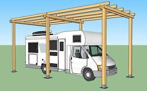 Dettagli Su Box Per Camper In Legno 8x4x H 3 5 Ricovero Per Camper Mansardati