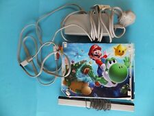 Nintendo Wii White Console Bundle ALL Wires, plus Nunchuck Fully Working Lot