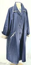 Sue Brett NEW Navy Silver trench coat rain zip winter lining jacket plus 18WP