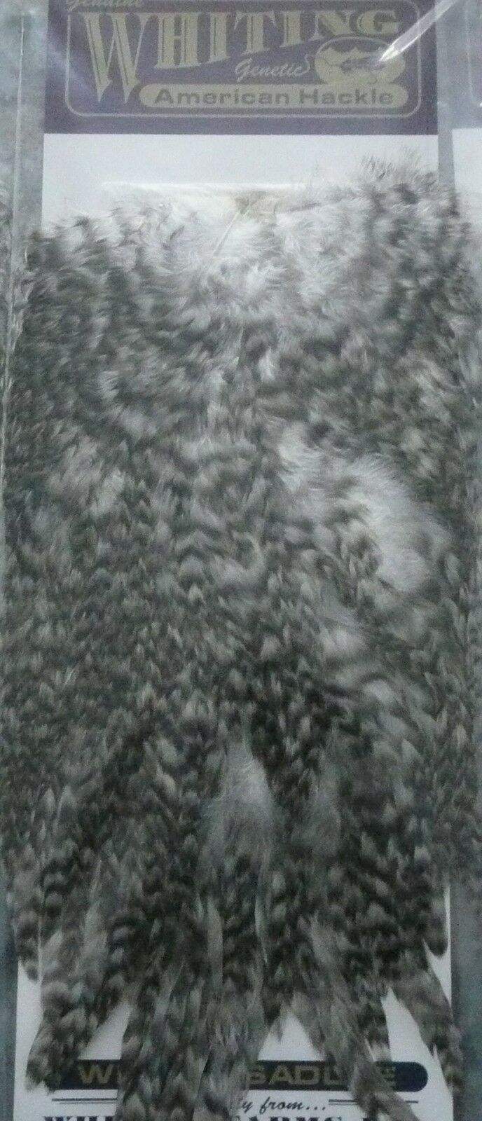 SELLE SADDLE COQ WHITING FARMS GRIZZLY sèche noyée streamer mosca flies