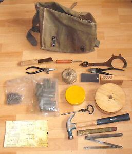 Rare-Vintage-Belgium-Army-ABL-Ordinance-Pioneer-039-s-Kit-Bag-amp-Tools