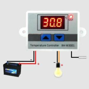 12V 220V Numérique Thermostat LED Contrôle Température Contrôleur