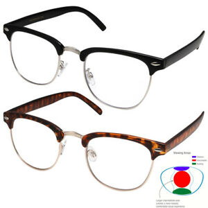 10b6d581a3 Image is loading Multifocal-Reading-glasses-NO-Line-Progressive-Clear-Lens-