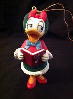 Disney Grolier Daisy Duck Christmas Ornament Caroling Caroler Merry Tree Holiday