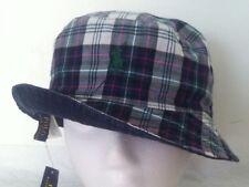 Polo Ralph Lauren Bucket Hat~Navy w/Stripe~Reversible~Blue Plaid~Size L/XL~2~NWT