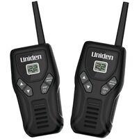 Uniden Walkie Talkies Up To 20-mi Batteries Belt Clip Black