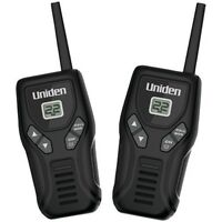 Uniden Walkie Talkies Up To 20-mi Batteries Belt Clip Black