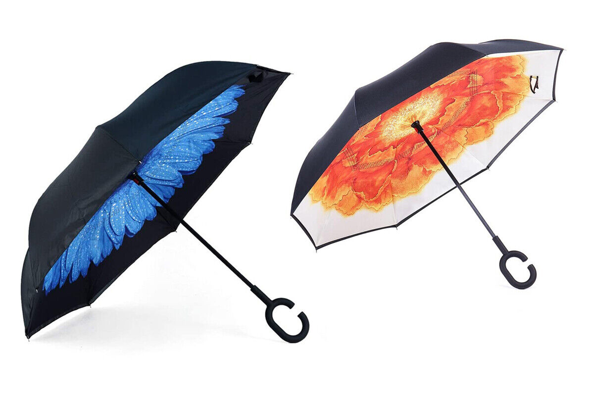 Double Layer Inverted Upside Down Inside Out Reverse Umbrella
