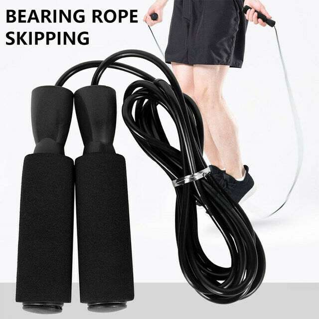 Gym Aerobic Exercise Skipping Jump Rope Boxing Fitness Adjustable Bearing USA