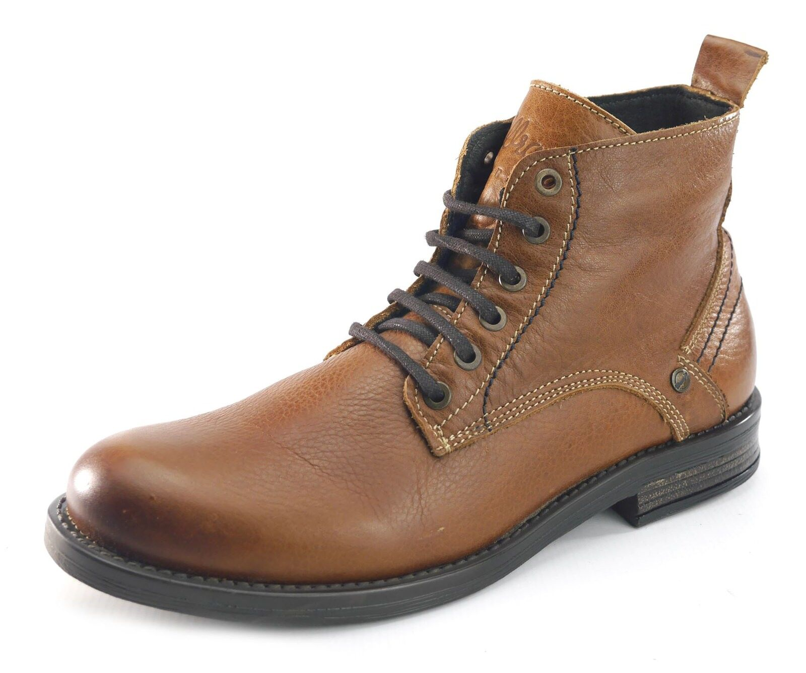 Wrangler Cliff Mid Mid Mid Hombre Lace Leather Ankle botas Tan Marrón e22a4f