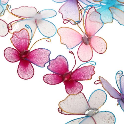 50pcs Wired Mesh Strumpf Schmetterling Hochzeit Dekoration 3,5 cm