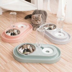 Cat-Bowl-Dog-Water-Feeder-Bowl-Cat-Kitten-Drinking-Fountain-Food-Dish-Pet-W8M5