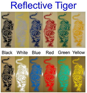 Reflective-Tiger-Glossy-Stickers-For-Car-or-Home-Decal-Single-or-Twin