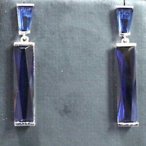 Long-Drop-Dangle-Earrings-Blue-Sapphire-Wedding-Jewelry-Women-14K-Gold-Plated