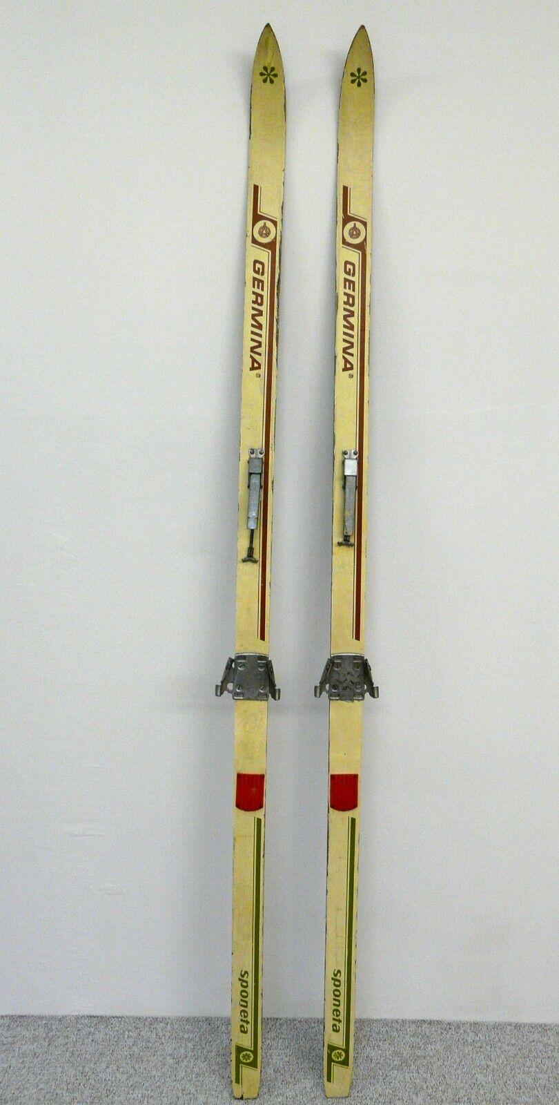 Kultige GERMINA GERMINA GERMINA Sponeta DDR Langlaufski 190 cm OBERHOF Bindung Ski Skier RETRO 3683a0